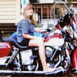 Kerri on Scottie's 1979 Harley